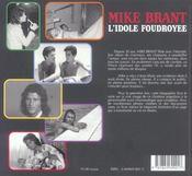 Mike Brant. l'idole foudroyée - 4ème de couverture - Format classique
