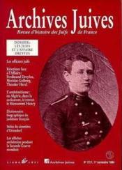 Archives Juives T.1 - Couverture - Format classique