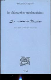 Les philosophes préplatoniciens - Couverture - Format classique