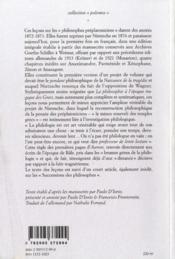 Les philosophes préplatoniciens - 4ème de couverture - Format classique