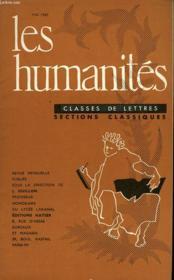 Les Humanites - Classe De Lettres - Mai 1960 - Couverture - Format classique
