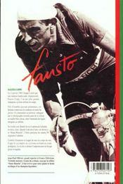 Fausto Coppi - 4ème de couverture - Format classique