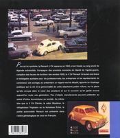 Renault 4 Cv - 4ème de couverture - Format classique
