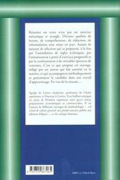 La Contraction De Texte Methode Exercices Epreuves Concours Entree Grandes Ecoles Concours Administ. - 4ème de couverture - Format classique