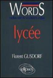 Words Lycee Mediascopie Du Vocabulaire Anglais - Intérieur - Format classique