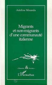 Migrants Et Non Migrants D'Une Communaute Italienne - Intérieur - Format classique