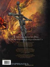 Le rêve de jérusalem t.1 ; la milice sacrée - 4ème de couverture - Format classique