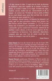 Louis xiv et sa cour nouvelle edition - 4ème de couverture - Format classique