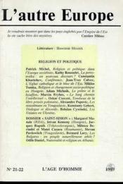 A21/22 Autre Europe (L') Religion & Politique - Couverture - Format classique