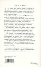 Autopsie D'Un Crime Exquis : L'Affaire Yann Piat - 4ème de couverture - Format classique