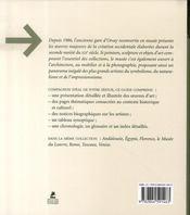 Le musée d'Orsay - 4ème de couverture - Format classique