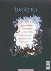 Weëna t.2 ; épreuve - 4ème de couverture - Format classique