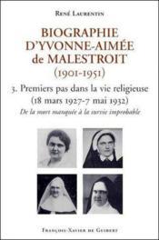 Biographie D'Yvonne Aimee De Malestroit T3 - Couverture - Format classique