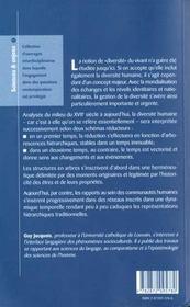 Manieres De Vivre Manieres De Penser La Diversite Du Vivant Occident - 4ème de couverture - Format classique