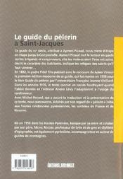 Le Guide Du Pelerin A Saint-Jacques - 4ème de couverture - Format classique