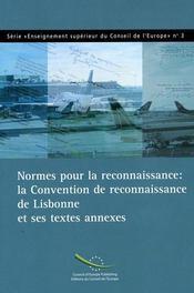 Normes pour la reconnaissance : la convention de reconnaissance de lis - Intérieur - Format classique
