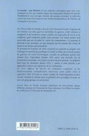 Le Monde De 1914 A 1945 - 4ème de couverture - Format classique