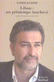 Liban : un printemps inacheve - Intérieur - Format classique