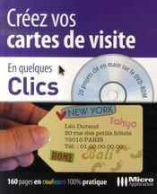 Creez Vos Cartes De Visite ; 15 Projets Cle En Main Sur Le Cd-Rom - Intérieur - Format classique