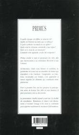 Primus ; Le Premier Manuel Pour Reconnaitre Le Patrimoine - 4ème de couverture - Format classique