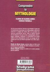 Comprendre La Mythologie - 4ème de couverture - Format classique