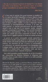 Maurice Zundel - 4ème de couverture - Format classique