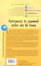 Retrouvez Le Sommeil Grace Au Qi Gong - 4ème de couverture - Format classique