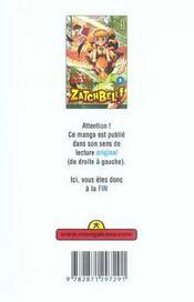 Zatchbell T1 - 4ème de couverture - Format classique