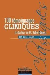 100 témoignages cliniques - Couverture - Format classique