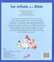 Enfants De La Bible (Les) - 4ème de couverture - Format classique