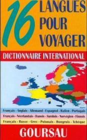 Dictionnaire international ; 16 langues pour voyager - Couverture - Format classique