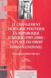 Changement De Regime Politique En Republique Tcheque (Le) - Intérieur - Format classique
