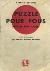Puzzle Pour Fous (Puzzle For Fools) - Couverture - Format classique