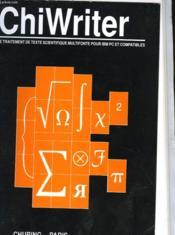 Chiwriter - Couverture - Format classique