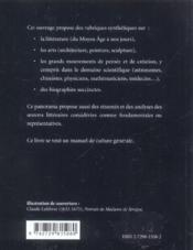 Panorama Culturel De La France - 4ème de couverture - Format classique