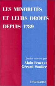 Les minorités et leurs droits depuis 1789 - Couverture - Format classique