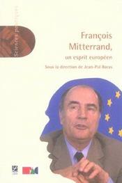 François Mitterrand, un esprit européen - Intérieur - Format classique