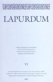 Revue Lapurdum T.6 - Intérieur - Format classique