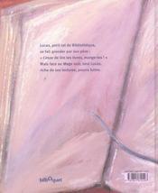 Lucas Et Le Mage Noir - 4ème de couverture - Format classique