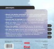 Paysages Naturels Et Urbains ; Guide Pratique De La Photographie Numerique - 4ème de couverture - Format classique