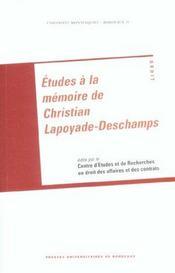 Etudes A La Memoire De Christian Lapoyade-Deschamps - Intérieur - Format classique