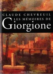 Les memoires de giorgione - Couverture - Format classique