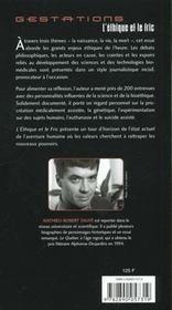 L'Ethique Et Le Fric ; De La Naissance A La Mort La Science Prend Le Controle De Nos Vies - 4ème de couverture - Format classique