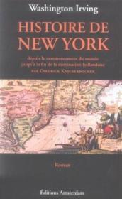 Histoire De New York - Couverture - Format classique