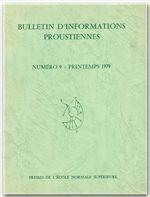 Bulletin D'Informations Proustiennes N.23 - Couverture - Format classique