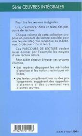 La Vie Est Un Songe - Parcours De Lecture - 4ème de couverture - Format classique