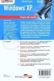 Windows Xp Tout De Suite - 4ème de couverture - Format classique