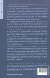 F.B.I, Histoire D'Un Empire - 4ème de couverture - Format classique