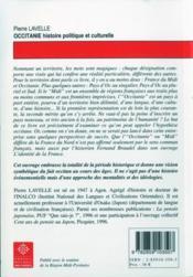 Occitanie ; histoire politique et culturelle - 4ème de couverture - Format classique