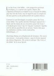 1001 Bb 016 - Lire Des Livres A Des Bebes - 4ème de couverture - Format classique